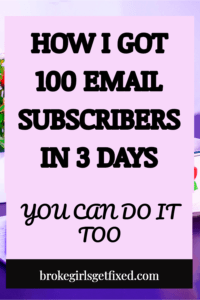 How I got 100 email subscribers in 3 days