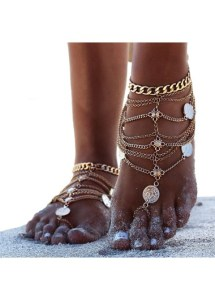 unique anklet with coin style