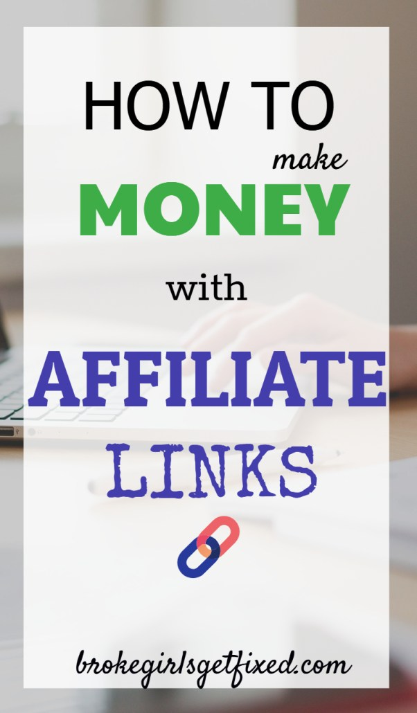 make money with affiliate links