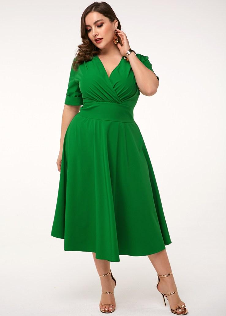 green three quarter gown size XL