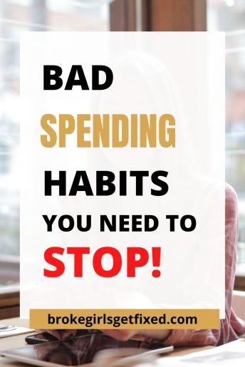 spending habits to stop