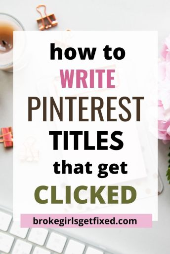 Pinterest titles that get clicked