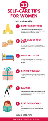 infographics for self-care tips