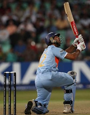 Photo of one of Yuvraj Singh's six sixes