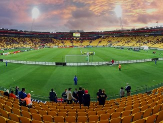 Panaromic photo of Westpac Cricket Stadium