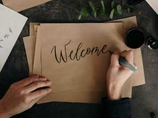Image of Welcome handwritten