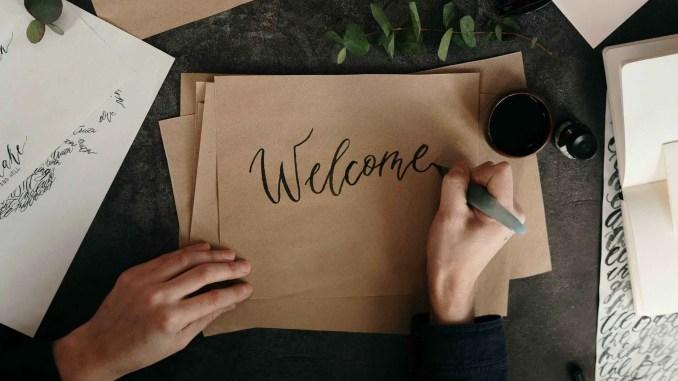 Image of Welcome handwritten