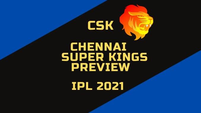 Chennai Super Kings Preview Custom Banner