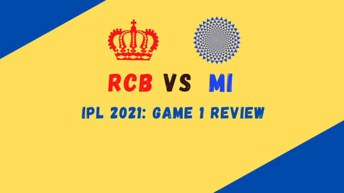 RCB Vs MI Banner IPL 2021