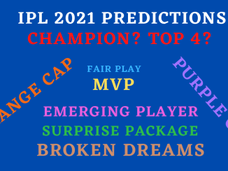 IPL 2021 Predictions Graphic