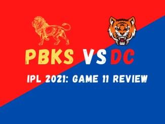 PBKS Vs DC graphic