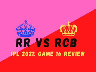 RCB Vs RR Graphic