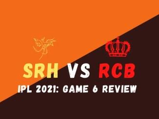 SRH Vs RCB Graphic