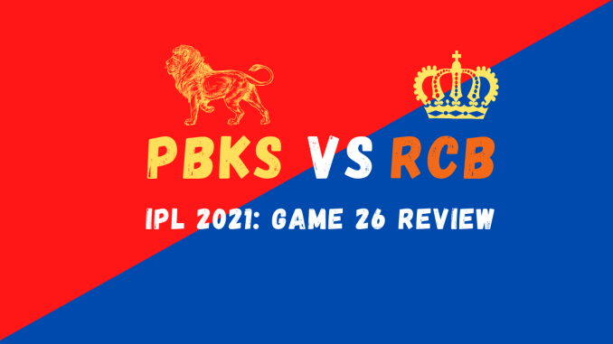 PBKS Vs RCB Graphic