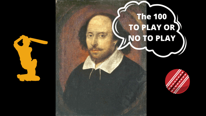The Hundred Parody: Graphic of William Shakespeare