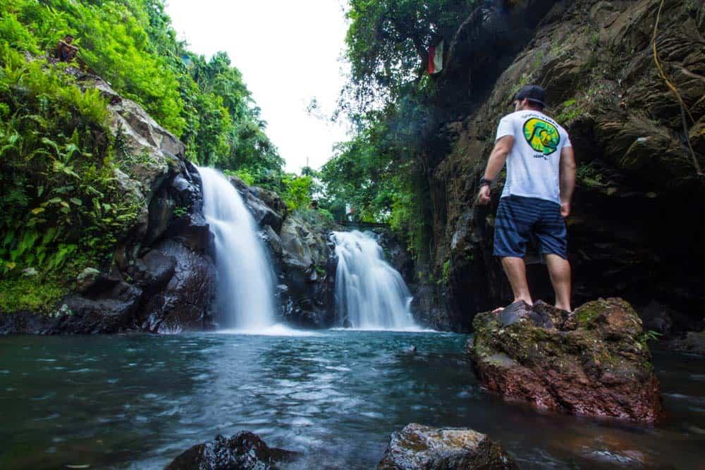 things to do in bali, git git waterfalls, twin waterfalls, things to do in bali indonesia, bali indonesia wateraflls