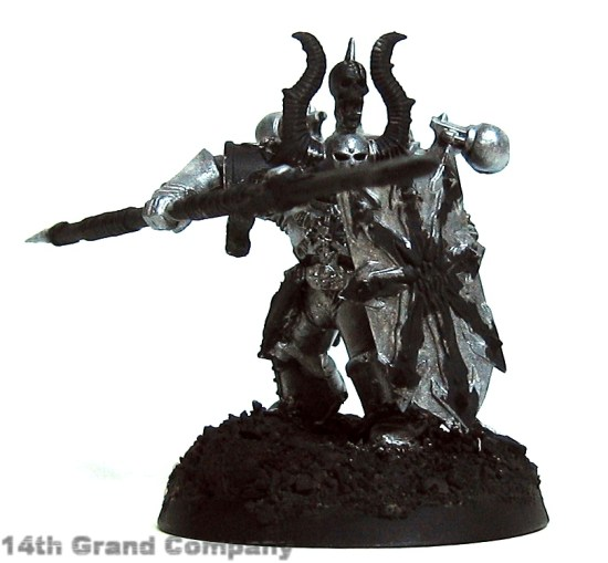 How I paint Iron Warriors, Stage 1: Metal, Step 2: Mithril Silver