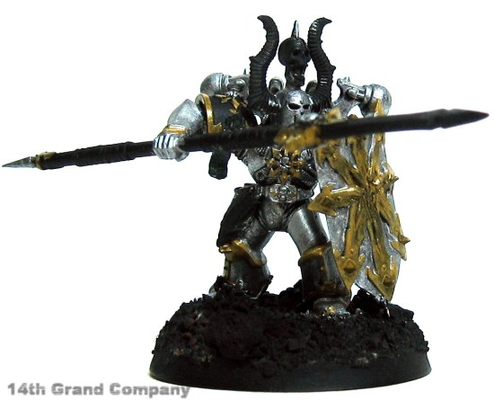 How I paint Iron Warriors, Stage 1: Metal, Step 3: Shining Gold