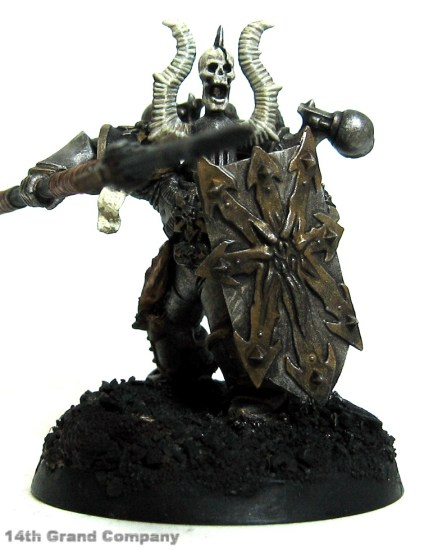 How I paint Iron Warriors, Part 3: Bone, Step 4: Bleached Bone and Skull White