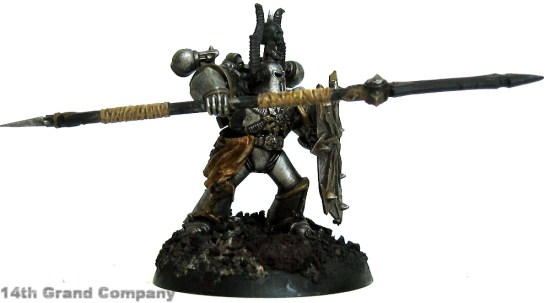 How I paint Iron Warriors, Part 2: Leather, Step 4: Bleached Bone
