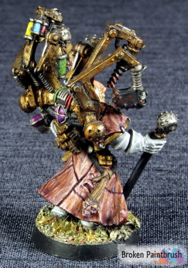 Fabius Bile painted up for the Iron Warriors