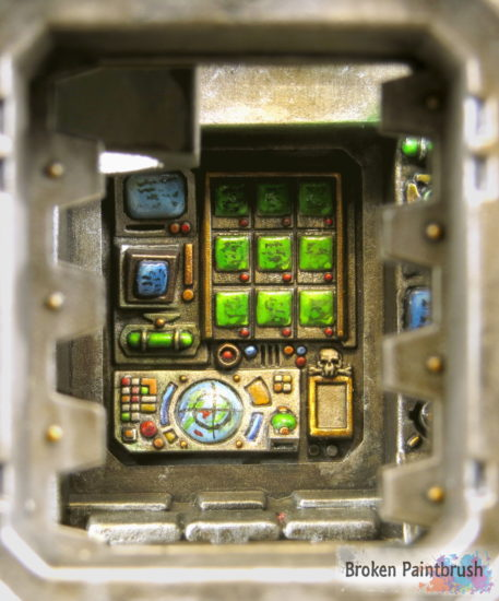 Iron Warriors Land Raider Interior Detail