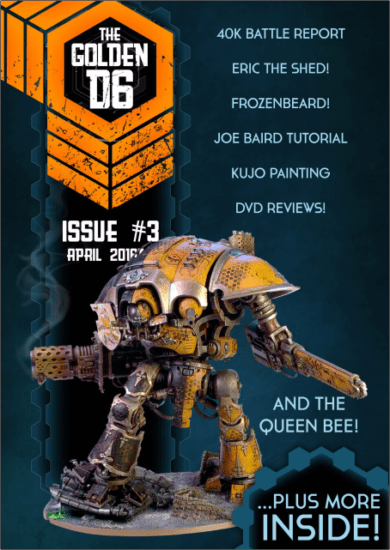 The Cover of The Golden D6 Issue 3