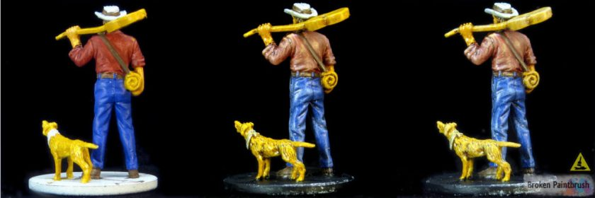 Painting the dog and guitar on Ashcan Pete from Mansions of Madness