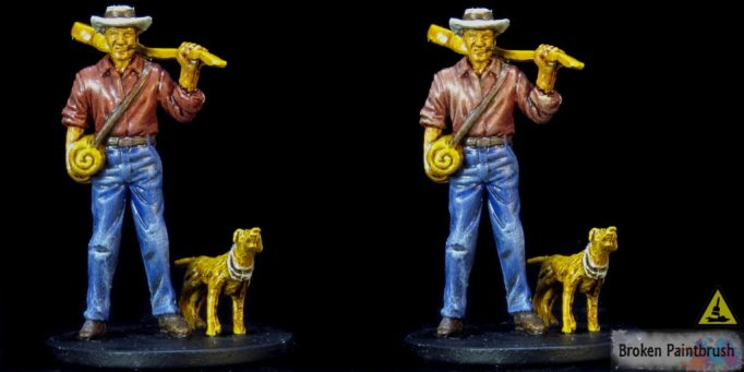 Painting the shirt 2 on Ashcan Pete from Mansions of Madness