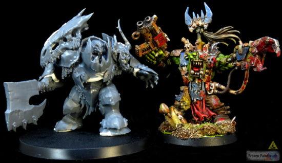 Orruk Megaboss vs 40k Ork Warboss