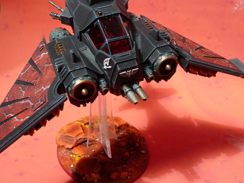 Dark Angels Jet fighter by Dave Weston