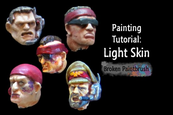How to paint white skin and faces