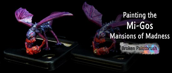 Painting guide for the Mi-Go from Mansions of Madness