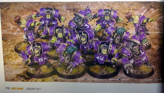 Purple Ork Blood Bowl Team