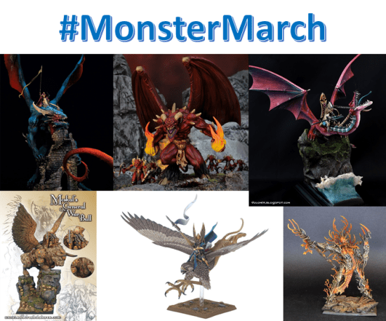 Monster March Painting Challenge
