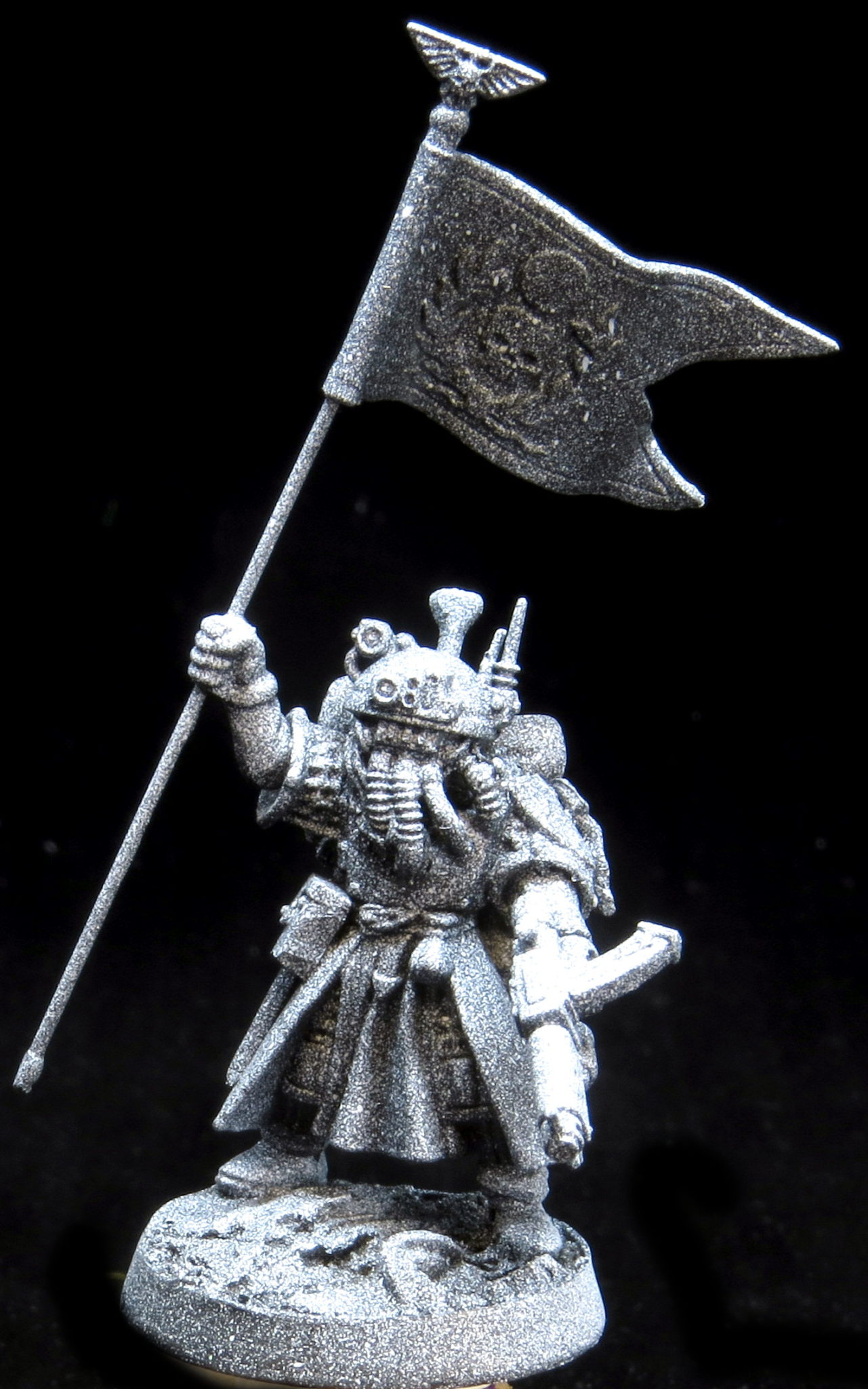 If you have only black and white rattle cans to work with, a great  technique is called a zenithal base coat. You start by priming the model  black, making ...