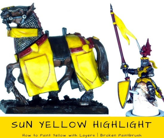 How to Paint Yellow with Layers - First Highlight