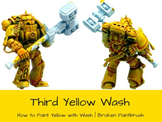 A Third Wash of Yellow Space Marine