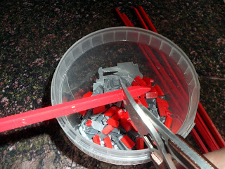 Making rubble for scenery with cut up bits