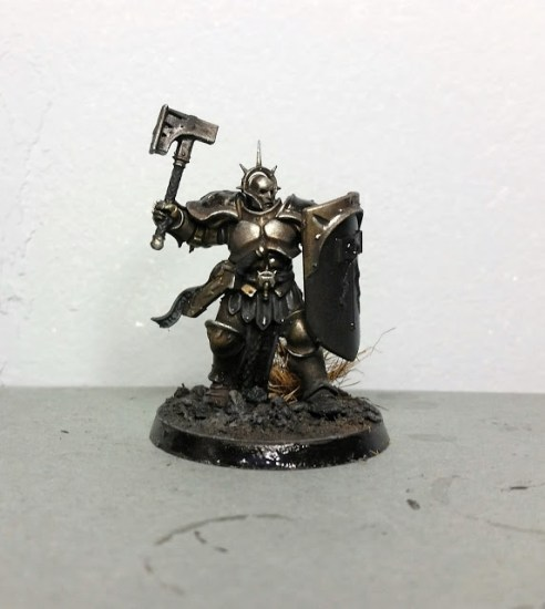 Painting Beaten Gold on Stormcast