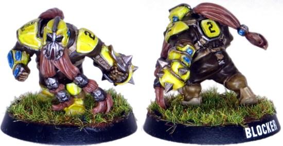 Dwarf Blood Bowl Blocker #2