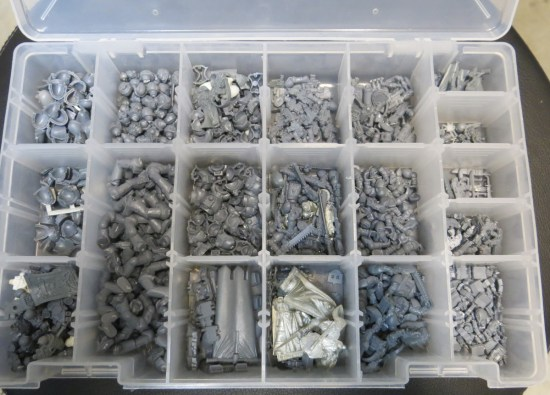Space Marine Bits Stored in a Bits Box