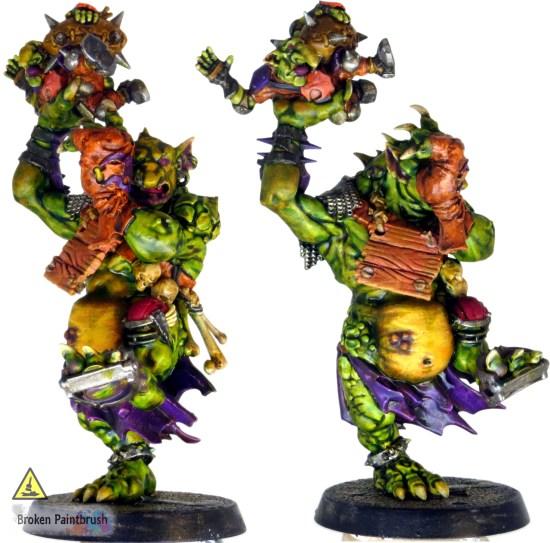 Purple Wash applied to troll's skin