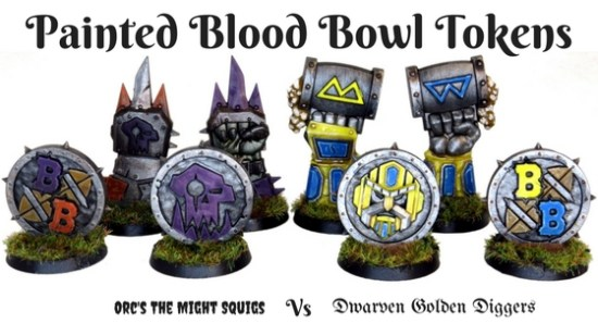 Finished Blood Bowl Tokens