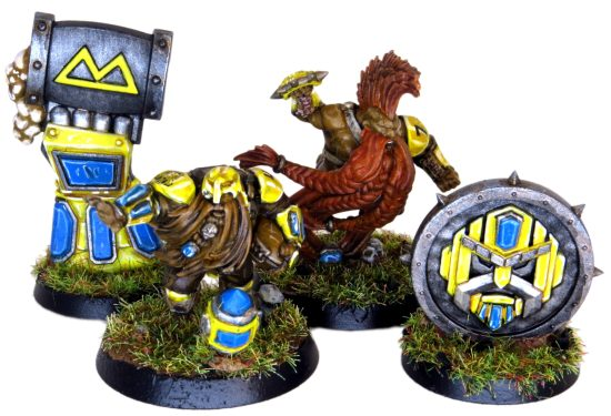 The Golden Miners Blood Bowl with Tokens