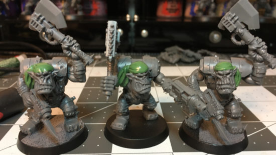 Sculpting Bandannas for Ork Freebooters