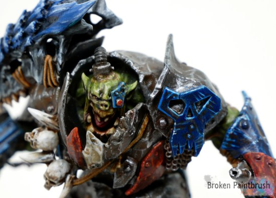 Close up of face for custom megaboss