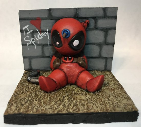 Sculpted Chibi Deadpool