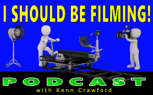 The I Should Be Filming podcast logo