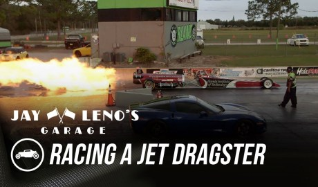 Jay Leno Races Jet Dragster In C6 Corvette